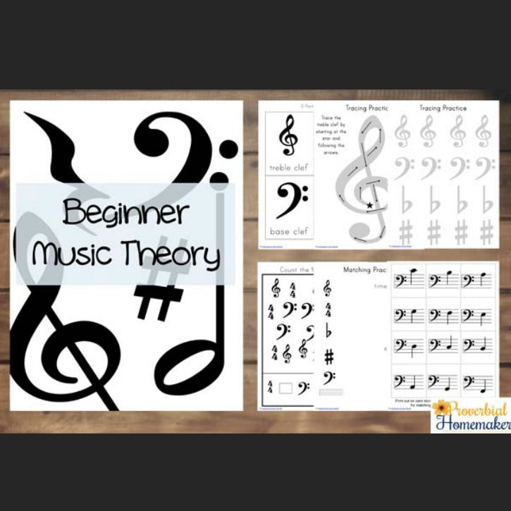 Beginner Music Theory Printable Pack