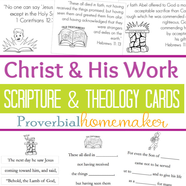 Scripture & Theology Cards: Christ and His Work