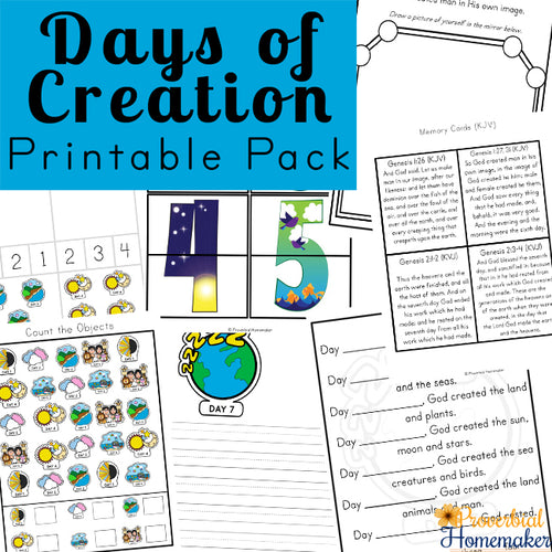 Days of Creation  Printable Pack
