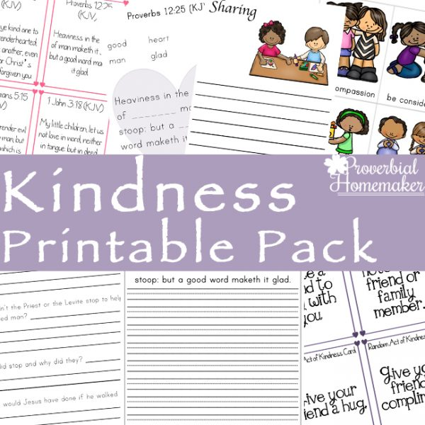 image relating to Kindness Cards Printable referred to as Kindness Printable Pack