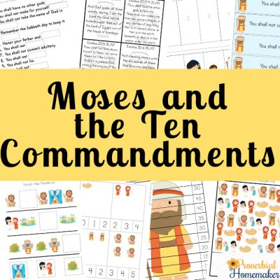 photo about 10 Commandments Kjv Printable called Moses and the 10 Commandments Proverbial Homemaker