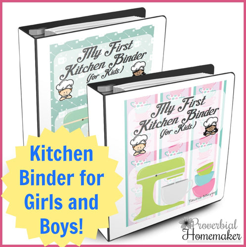 My First Kitchen Binder for Kids