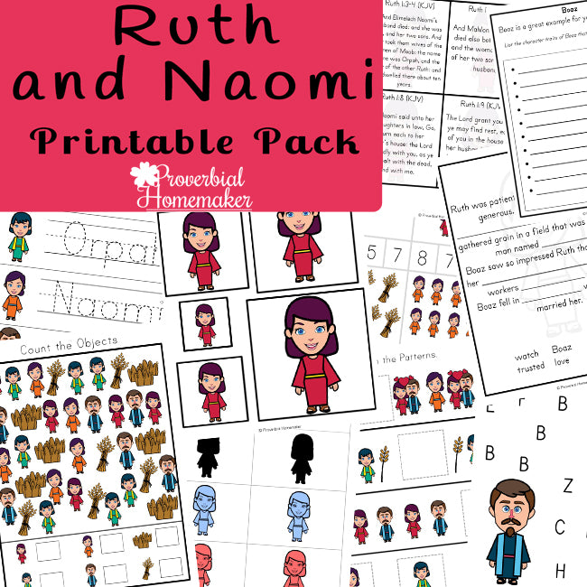 Ruth and Naomi Printable Pack