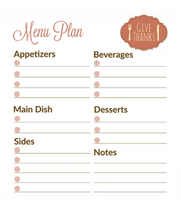 Holiday Planner for Thanksgiving & Christmas