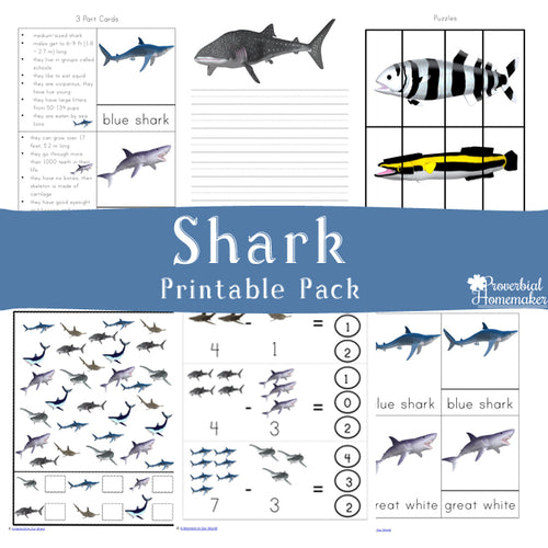 Shark Printable Pack