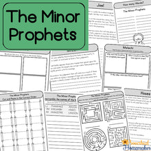Minor Prophets Bible Lesson Printable Pack