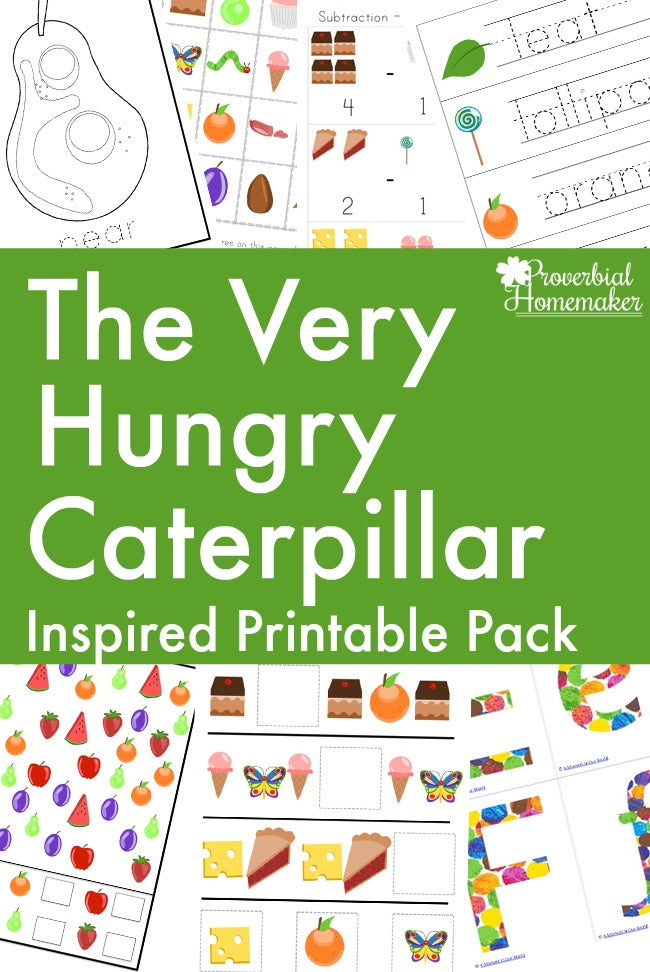 Hungry Caterpillar Printable Pack