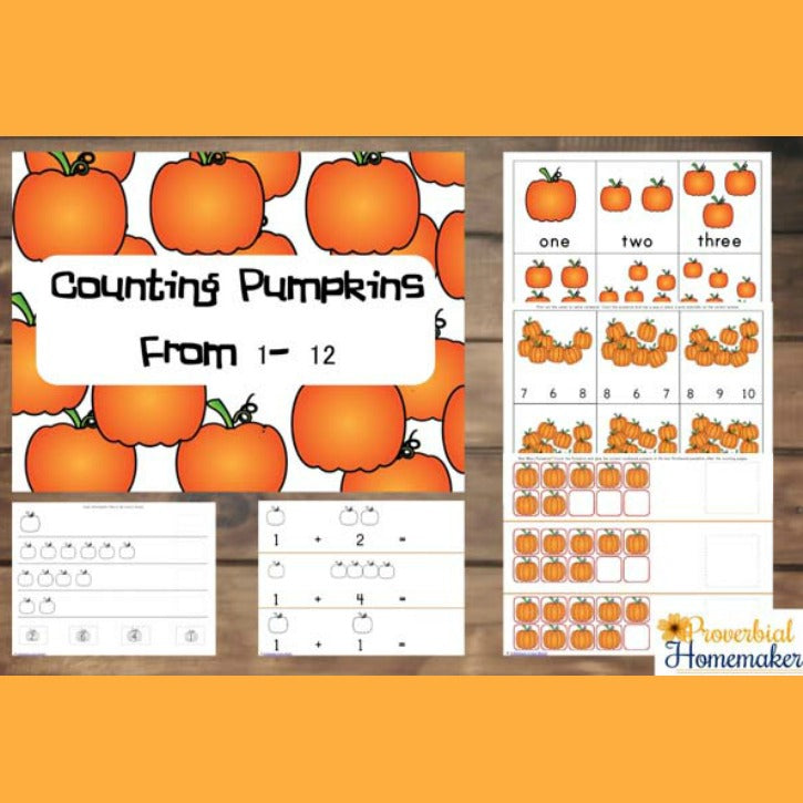Counting Pumpkins Printable Pack