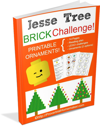 Jesse Tree Brick Challenge & Ornaments