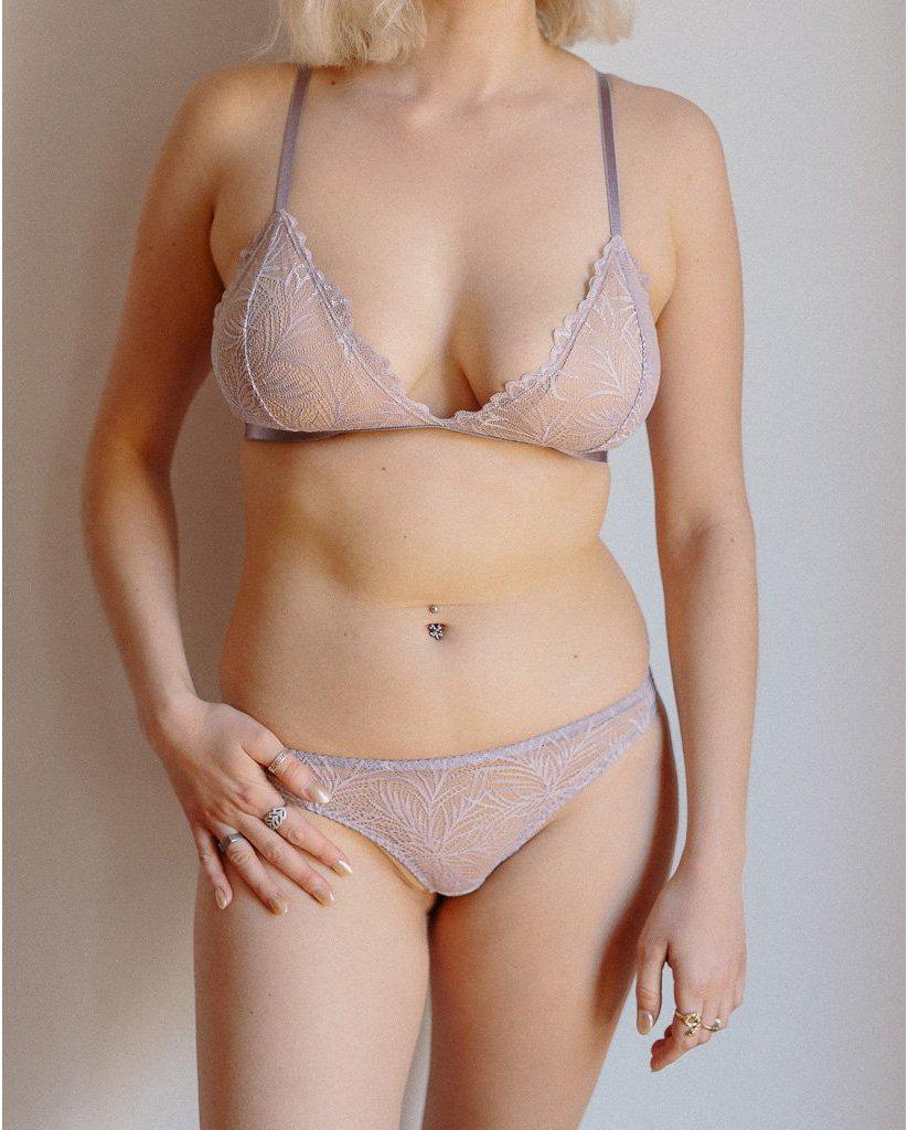 Purple Lima Recycled Lace Triangle Bralette *FINAL SALE*