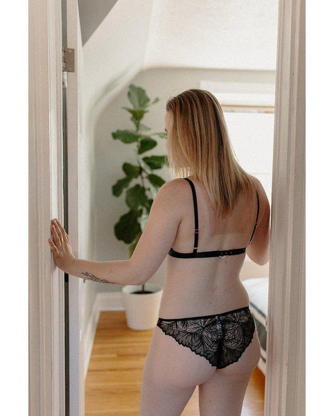 Black Lima Recycled Lace Undies