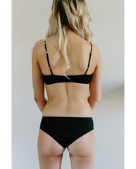 Organic Cotton Jessica Boyshort Undies - Black