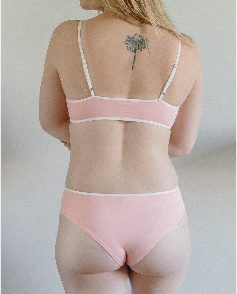 Organic Bamboo Jessica Boyshort Undies - Pink *FINAL SALE ITEM*