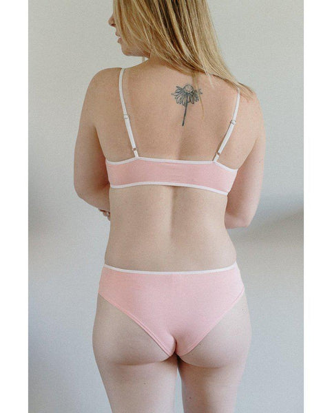 Organic Cotton Triangle Stephanie Bralette - Pink