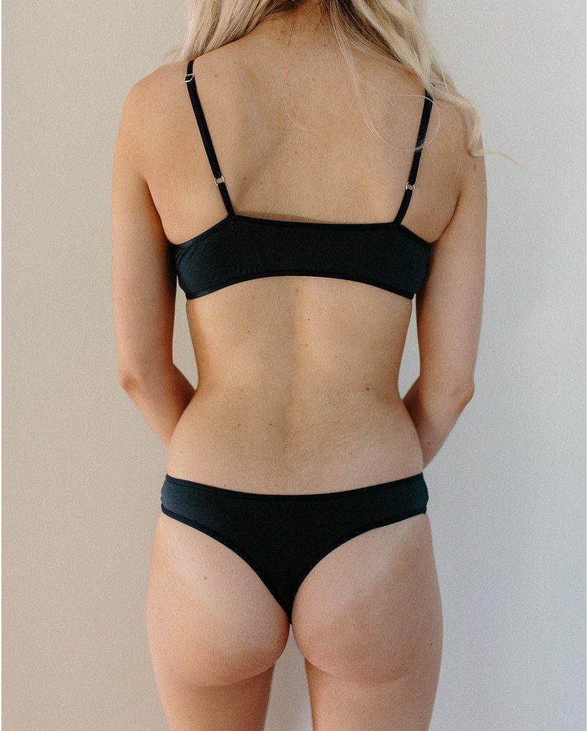 Organic Cotton Basic Rosy Thong - Navy Blue *Only L + XL left! FINAL SALE ITEM*