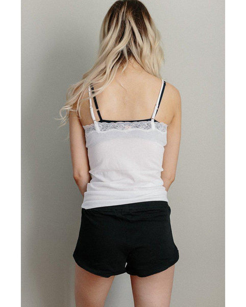 Organic Cotton Sleep Shorts - Black *Only S + L left! FINAL SALE ITEM*