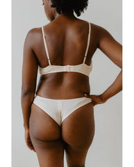 Organic Cotton Catherine Bralette - Beige *FINAL SALE ITEM*