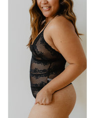 Brianna Recycled Lace Bodysuit - Black *Only M + L left!*