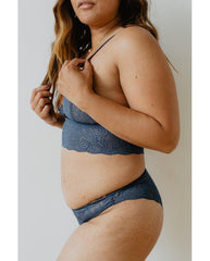 Blue Recycled Lace Lima Undies