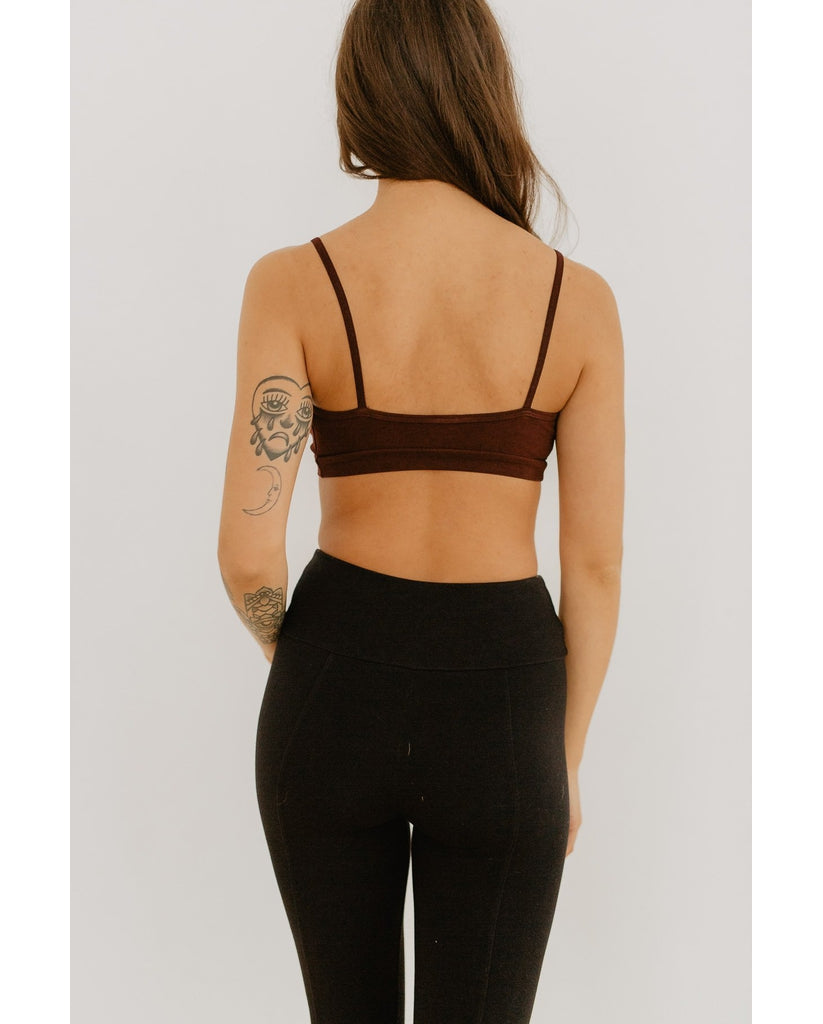 Organic Cotton Light Sports / Yoga / Lounge Bra - Mahogany Red *Only XS left! FINAL SALE*