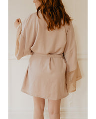 Elza Gold Tencel Robe *Only S + M left!*