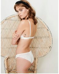 Creamy White Recycled Lace Lima Undies