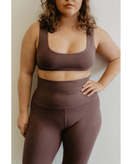 Organic Cotton Tank Bralette - Eggplant Purple *Only XS + S left! FINAL SALE*