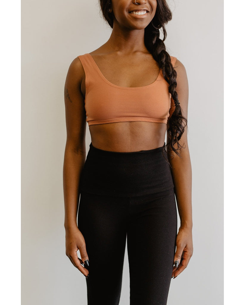 Organic Cotton Tank Bralette - Rust