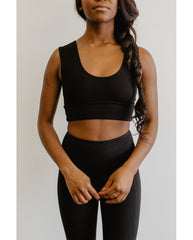 Organic Cotton Reversible Bralette - Black