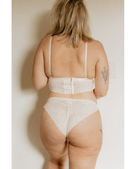 Creamy White Recycled Lace Lima Longline Bralette *FINAL SALE*