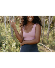 *PRE-ORDER* Organic Cotton Reversible Bralette - Dusty Rose Pink