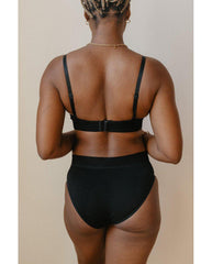 Organic Cotton Triangle Bralette - Black *Only L left! FINAL SALE*
