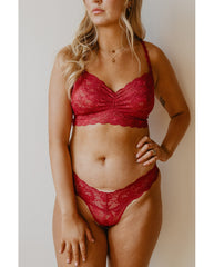 Sweetie Bralette - Ruby Red *Only L left!*