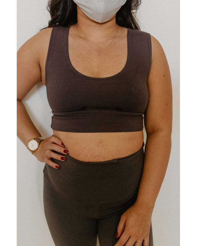 Organic Cotton Reversible Bralette - Slate Grey