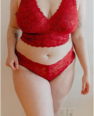 Curvy Hottie Boyshort - Ruby Red