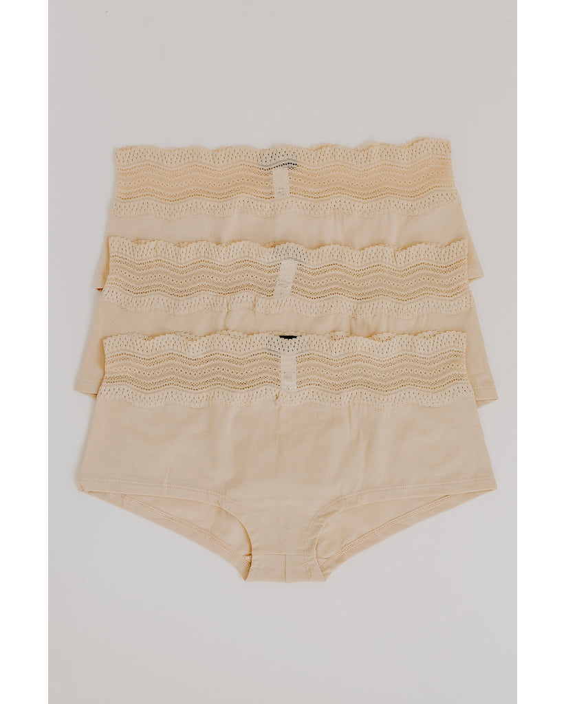3-Pack Dolce Boyshorts Blush / Black
