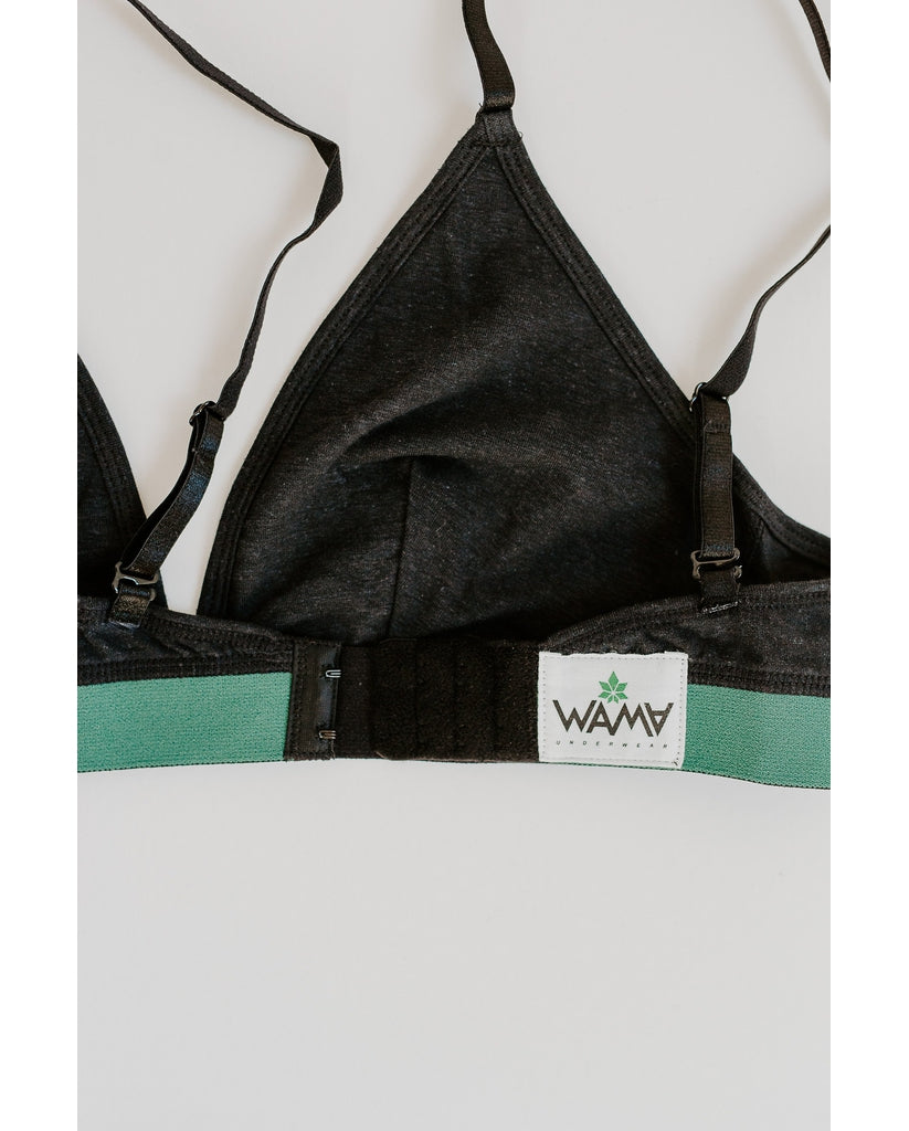 Hemp Triangle Bralette - Black