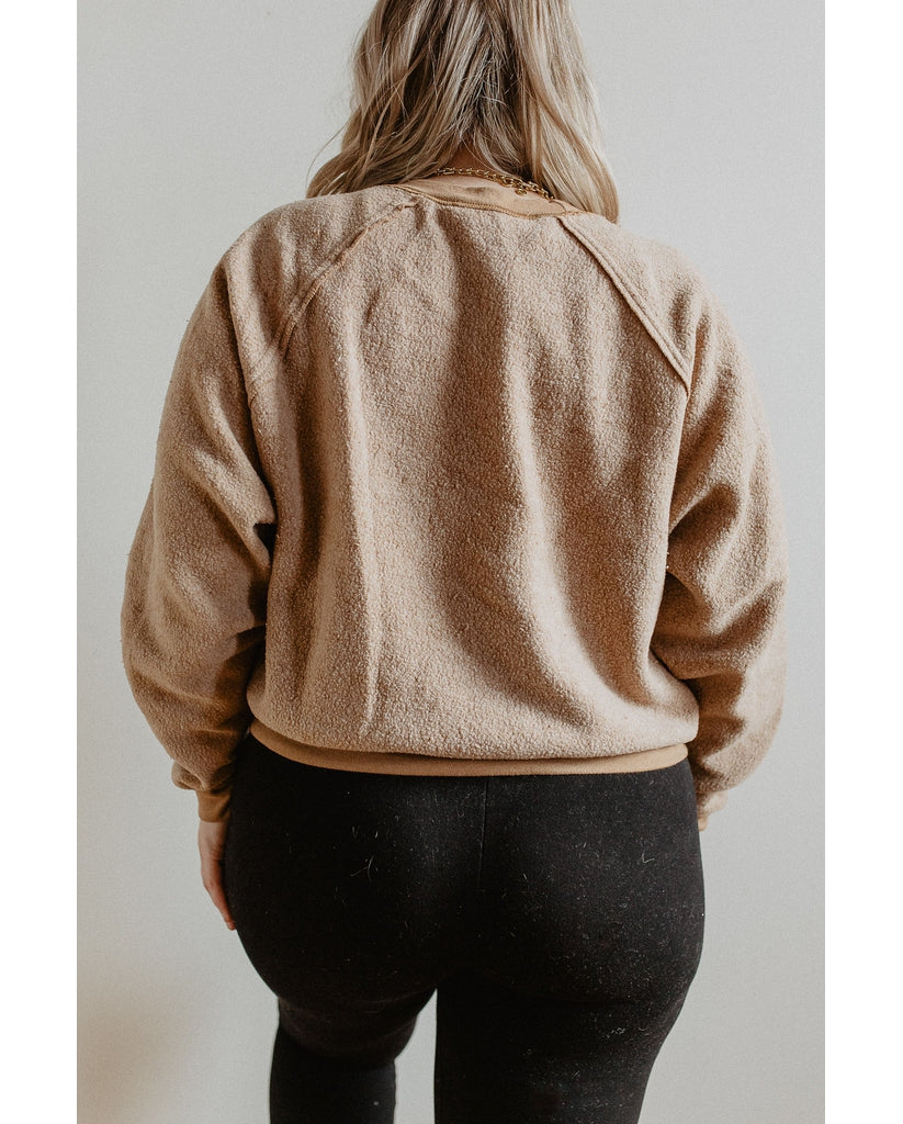 Reverse Eco Fleece Sweater - Chestnut