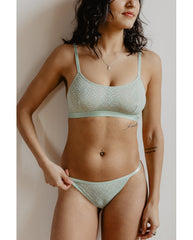 Recycled Wave Bralette - Mint