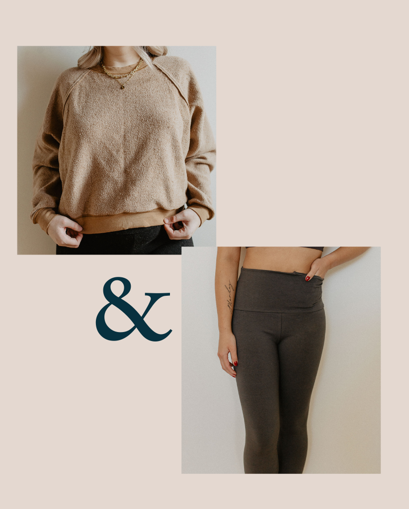 Sweater + Legging Set - Chestnut + Grey