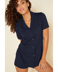 Bella Shorts PJ Set - Navy