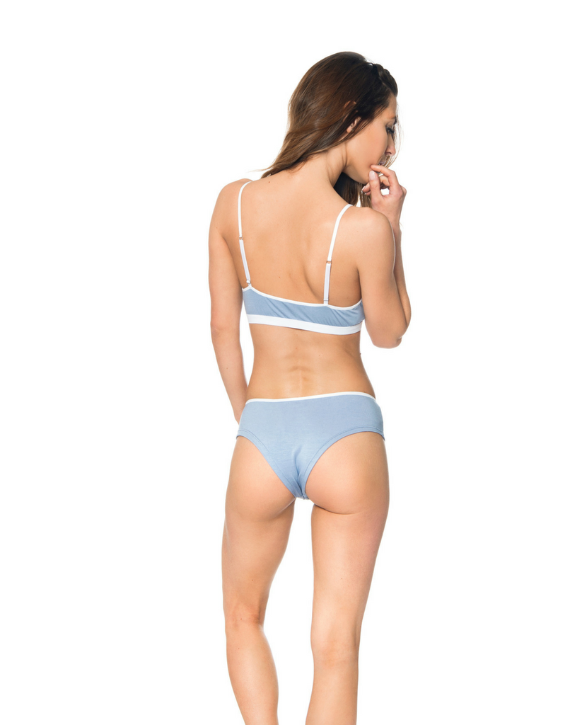 Albany Bamboo Boyshort Undies - Blue *Only S + L left!*