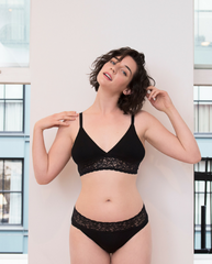 Anne Bamboo Padded Bralette - Black
