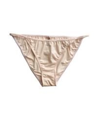 Organic Cotton Audrey String Bikini - Beige *Only L left! - FINAL SALE ITEM*