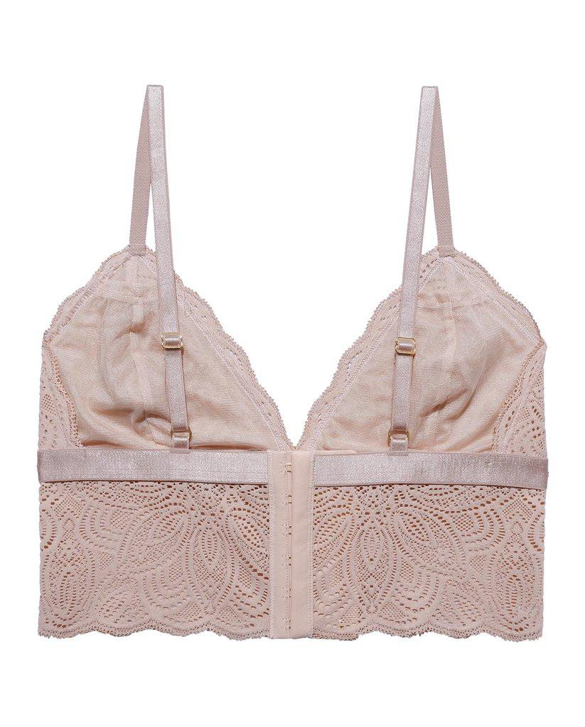 Beige Recycled Lace Lima Longline Bralette *FINAL SALE*