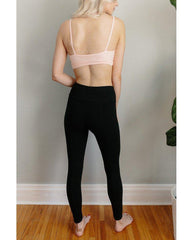 High Waist Organic Cotton Legging - Black