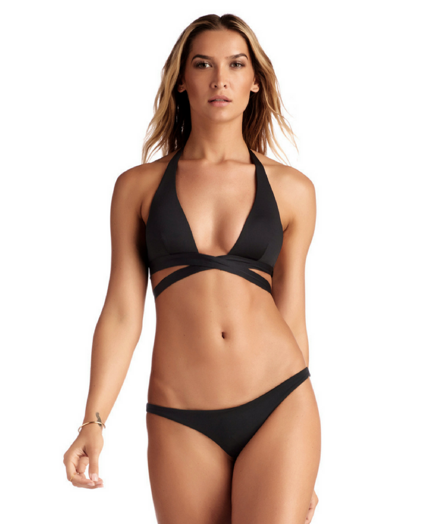 Black Sirena Wrap Top