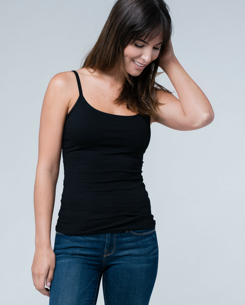 Organic Cotton Everyday Cami Tank Top w/Bra *Only XS, L + XL left!*