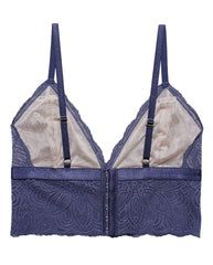 Blue Recycled Lace Lima Longline Bralette