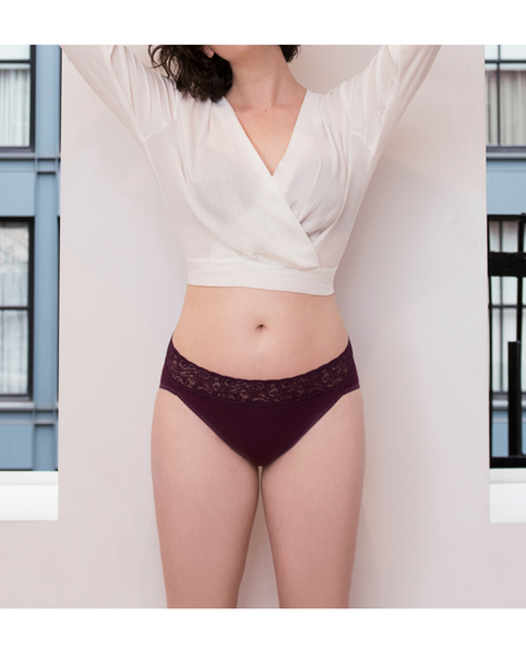 Carmine High-Waist Bamboo Undies - Beige *RESTOCK COMING IN JANUARY!*